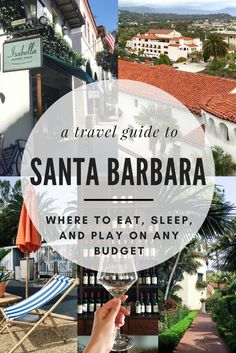 We're heading to the American Riviera for the weekend: It's time to pack up for Santa Barbara, California! Use this travel guide to find out where to eat, where to stay, and what to do on any budget when visiting beautiful Santa Barbara. - Use this Santa