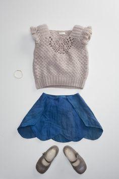 Petal Skirt and Crochet Vest - Flora and Henri - Via Tot Snob