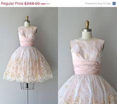 SALE 20 OFF Sweet Nothings dress  vintage 1950s by DearGolden, $214.40