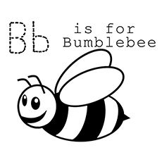 Large Alphabet Templates Printable Free See More Bumblebee Coloring Pages