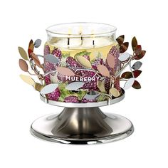 Shimmering Leaves Pedestal Jar Holder