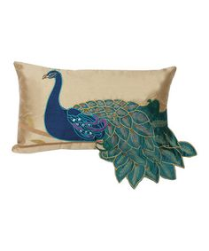 Love this Fancy Peacock Throw Pillow by THRO on #zulily! #zulilyfinds