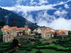 Village in Corsica (France)
