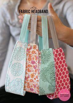 DIY Fabric Headband Tutorial - Handmade   Gift Idea add a monogram for personal touch