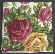 Cloth Napkin in the Old Country Roses pattern by Royal Albert China