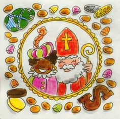 Sint Blond Amsterdam, Amsterdam Images, Ceramic Painting, Diy And Crafts, December, Doodles, Seasons, Cartoon, Drawings