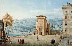 Victor Jean Nicolle - Napoli, la Torretta a Mergellina.