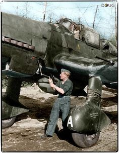 Junkers Ju.87 D-5 'Stuka' of 1.SG3 being hand crank started in Immola, Finland 1944