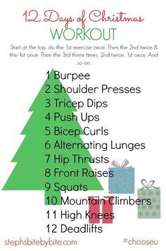 Fitness Friday | 12 Days of Christmas Workout | http://stephsbitebybite.com