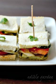 Vegetable Sandwich Recipe - Bombay Veg Sandwich, Step by Step