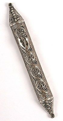 925 Silver Jewish Mezuzah Yemen Ethnic Filigree Art,Kosher Mezuza Made in Israel Jewish Mezuzah, Arte Judaica, Special Gifts, Great Gifts, Israeli Jewelry, 925 Silver, Sterling Silver, Jewish Art, Judaism