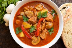 Zupa gulaszowa z pieczarkami Polish Recipes, Polish Food, Low Carb Diet, Thai Red Curry, Soup Recipes, Grilling, Food Porn, Health Fitness, Food And Drink