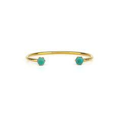Double turquoise cuff
