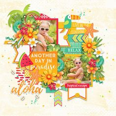Layout using {Going Tropical} Digital Scrapbook Kit by Digital Scrapbook Ingredients available at Sweet Shoppe Designs http://www.sweetshoppedesigns.com//sweetshoppe/product.php?productid=34569&cat=839&page=1 #digitalscrapbookingredients
