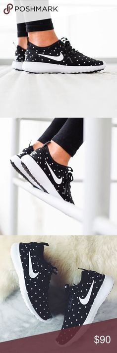 Nike Polka Dot Print Juvenate Sneakers •Adorable black and white polka dot print Juvenate sneakers. Seamless, lightweight and ultra comfortable. No-tongue design.