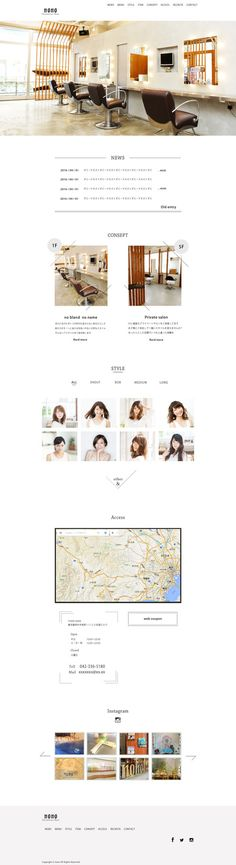 tansan-suiさんの提案 - インテリアがお洒落な美容室 ホームページのトップデザインの募集   クラウドソーシング「ランサーズ」