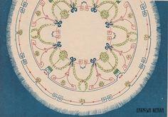 Узор вышивки для скатерти или салфетки. СССР. 1941 г. Embroidery design for tablecloth or table napkin. USSR, 1941.