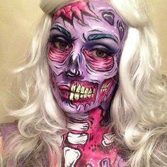 Cartoon zombie makeup