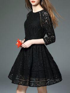 Pierced High Waist Mini Dress