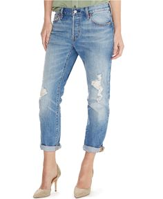 45e140192b34 Levi s® 501® CT Customized Tapered Boyfriend Jeans, Morning Haze Wash -  Juniors Jeans