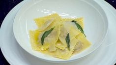 Quail Ravioli with Sage Butter