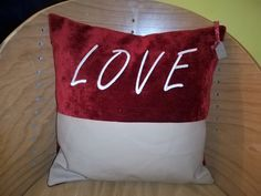 Embroidery cushion Design and made in England by zig zag embroidery and sewing uk. Made using beige leather and high quality red velvet. High Fashion Trends, Zig Zag, Real Leather, Red Velvet, Upcycle, Cushions, England, Beige, Throw Pillows