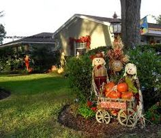 Front Yard Decoration Ideas Fall yard decoration ideas hay bales scarecrows and silk flowers front yard halloween ideas thank you for stopping by here listed below is a fantastic photo for front yard halloween ideas workwithnaturefo