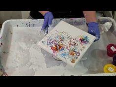 (279) carnival mallet smash acrylic pour technique - YouTube