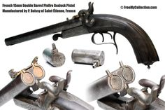 15mm Pinfire Auxiliary Percussion Adapter and Pistol