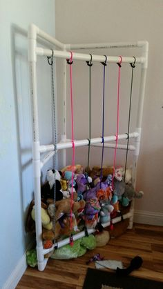 Toys or books everywhere broken crayons underfoot childs rooms pvc stuffed animal storage solutioingenieria Image collections