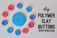 DIY Polymer Clay Button Tutorial from seven thirty three - - - a creative blog