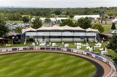 Hospitality structure built by The Halo Group at Epsom Derby #Hospitality #VIP #Racecourse #TemporaryStructure