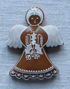 Angel Cookies, Holiday Cookies, Holiday Treats, Christmas Angels, Christmas Crafts, Christmas Ornaments, Candy Train, I Love Winter, Honey Cake