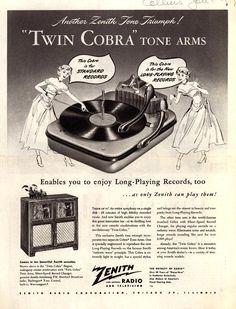 Vintage Zenith Ad - 1949.....................................Please save this pin... ........................................................... Visit!.. http://www.ebay.com/usr/prestige_online