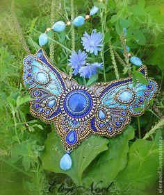 """Helen Noel  - Колье, бусы ручной работы. Ярмарка Мастеров - ручная работа Колье """"В саду танцующих бабочек"""". Handmade."""