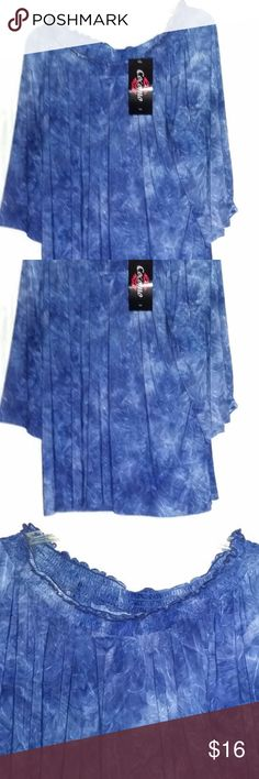 Cocomo Women Blue Tie Dye Pullover Blouse Size XL Cocomo Women~Blue Tie Dye Pullover Elastic Collar Blouse 3/4 Sleeve~Size XL  Type:  Blouse~Sheer Style: Off-The Shoulder Blouse  Brand: Cocomo Material: Polyester & Spandex Color: Blue Various Shades Condition:  New  All items are stored in a pet free/smoke free environment.  Once you receive your item if there are any concerns please contact us right away.  Thank you for your purchase, don't forget to check out the other items we have in our…