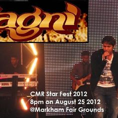 AGNI is proud to perform once again with the renowned singer and music directer Karthik on August 25th at Markham Fair Grounds for CMR STAR FEST!! Pravin Mani, a renowned music director and a long term associate of AR Rahman will be in attendance! So for all you music enthusiasts, aspiring artists and devoted fans come and join us for an extravagant fun-filled evening!!! FREE ENTRANCE AND PARKING!  COURTESY: https://www.facebook.com/sylvia.francis.16
