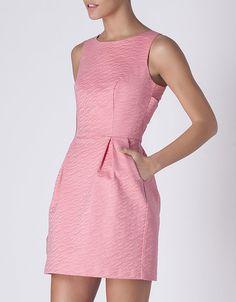 Vestido jacquard tiras espalda | SHOP ONLINE SUITEBLANCO.COM