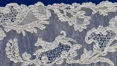 France: Border c.1740, linen (needle lace) (Alencon)