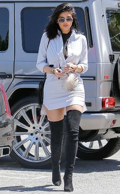 Kylie Jenner from The Big Picture: Today's Hot Pics  The teen steps out in urban-safari chic in L.A.