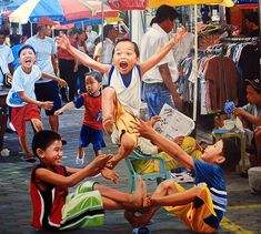 Luksong Tinik lol filipino childhood is the best w/ the neighborhood kids in our gated community Les Philippines, Philippines Culture, Filipino Art, Filipino Culture, Childhood Games, My Childhood Memories, Street Game, Philippine Art, Composition Art