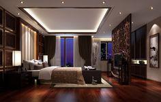 Dark hardwood flooring ideas for bedroom with pop ceiling designs 800x511 | Interesting POP Ceiling Designs