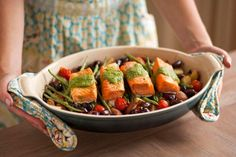One Pot Wonder: Make Our Roasted Salmon Nicoise (Gluten-Free) via Brit + Co. Great for entertaining