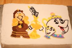 Beauty and the Beast cake for the kids in the cast of Beauty and the Beast Jr.