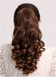 Fashion Wavy Synthetic Hair Long Ponytail