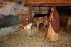 A Christmas Living Nativity Scene in Sicily<3