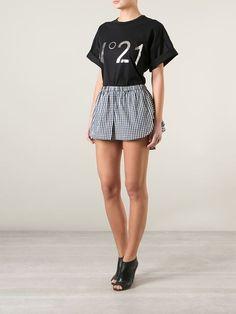 Nº21 Gingham Layered Mini-skirt - Laboratoria - Farfetch.com