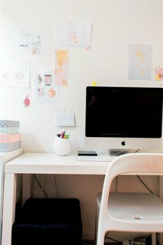 Simple white workspace   live from IKEA FAMILY
