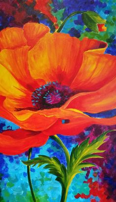 Art Floral, Watercolor Flowers, Watercolor Paintings, Images D'art, Ouvrages D'art, Art Pictures, Flower Art, Art Projects, Canvas Art