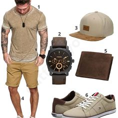 Beige-Braunes Sommeroutfit für Männer #shirt #shorts #sommer #sommeroutfit #fossil #reell #tommyhilfiger #outfit #style #fashion #ootd #herrenmode #männermode #outfit #style #fashion #menswear #mensfashion #inspiration #menstyle #inspiration